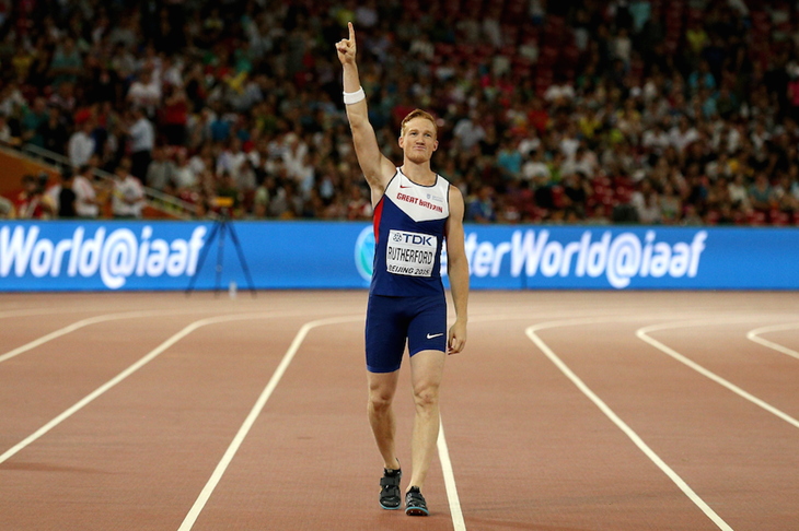 Greg Rutherford Beijing Celebrations SPIKES ()