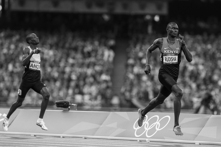 David Rudisha during his world record run at the 2012 London Olympics (Getty Images)