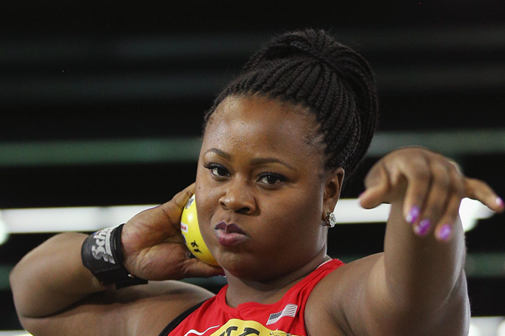 Michelle Carter at the 2016 Portland World Indoor Championships ()