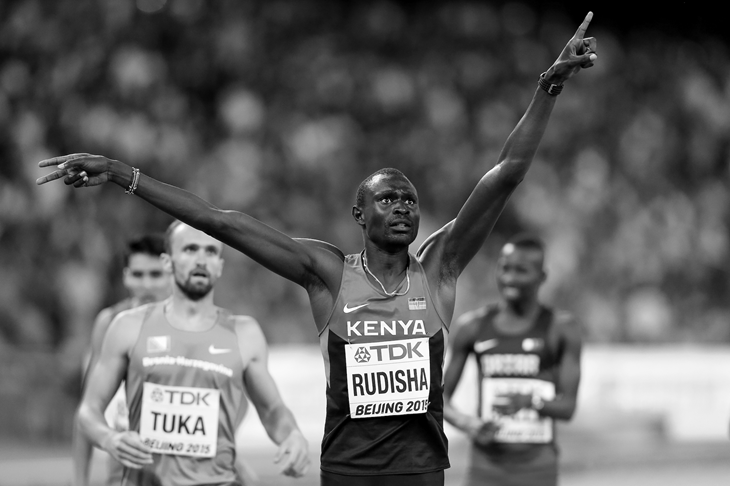 David Rudisha at the 2015 IAAF World Championships (Getty Images)
