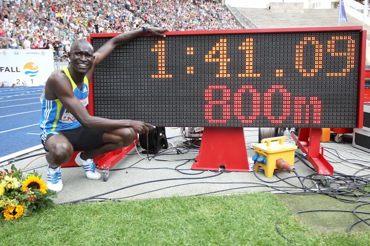 David Rudisha sets a world record at the 2010 ISTAF in Berlin ()
