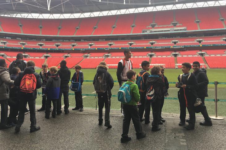 Wayde van Niekerk on a tour at Wembley Stadium (Michelle Sammet)