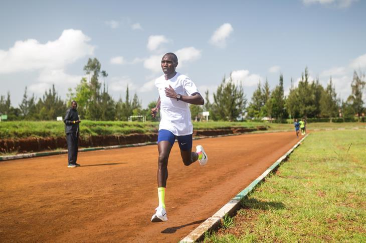 Geoffrey Kamworor training in Kaptagat (Dan Vernon)