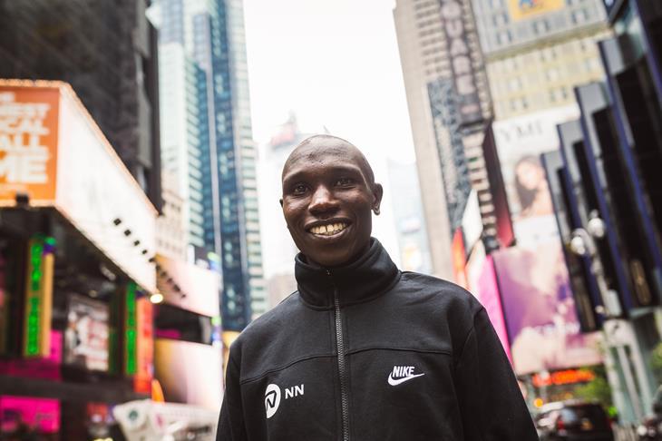 Geoffrey Kamworor in New York (Dan Vernon)
