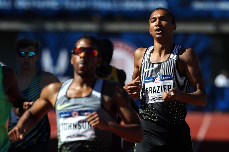 Donavan Brazier during the 2016 Olympic Trials  (Getty Images)