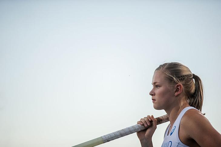 Wilma Murto at the 2016 Bydgozcz World U20 Championships (Getty Images)