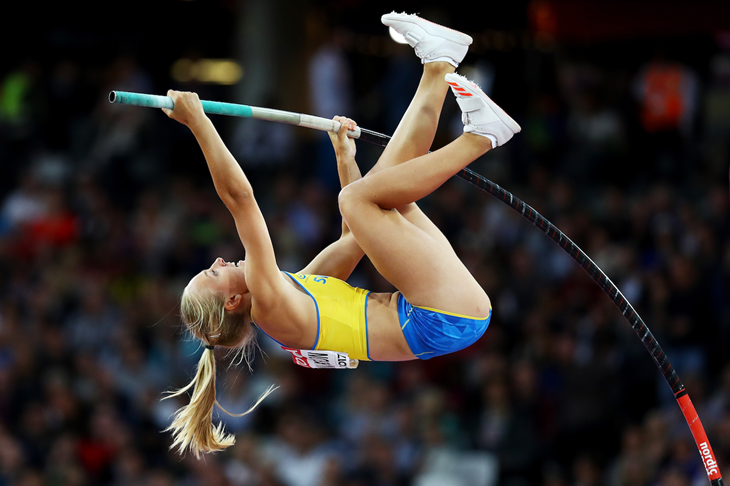 Lisa Gunnarsson competes at the IAAF World Championships in London (Getty Images)