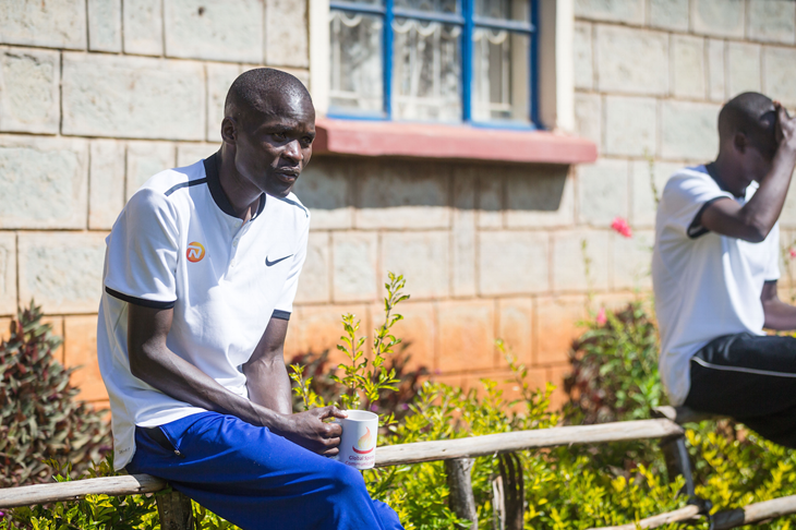 Abel Kirui during training in Kaptagat (Dan Vernon)