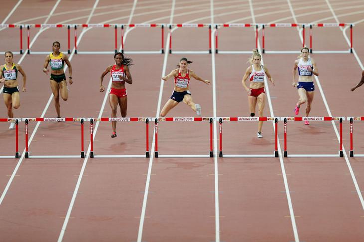 Women's 400m hurdles final Beijing ()