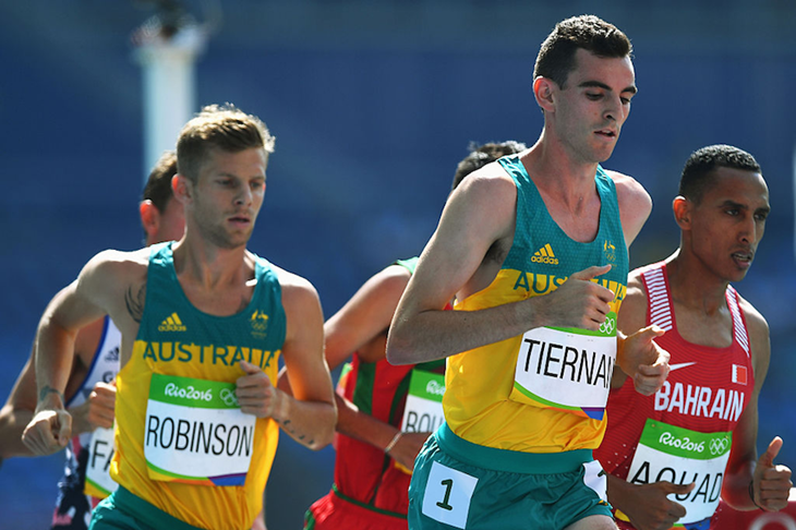 Patrick Tiernan competes in the 5000m at the Rio Olympics (Getty Images)
