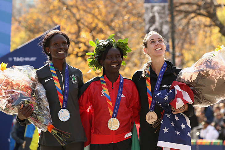 Top three women in the 2016 New York City Marathon (Getty Images)