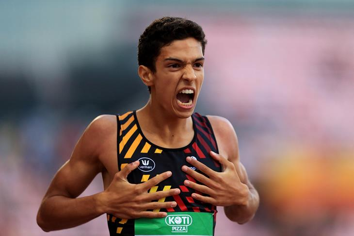 Jonathan Sacoor wins the 400m at the IAAF World U20 Championships Tampere 2018 (Getty Images)