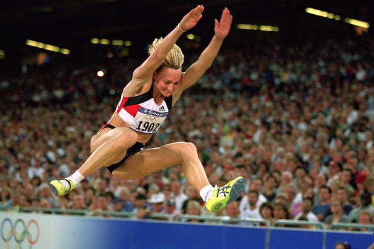 Heike Drechsler at the 2000 Sydney Olympics ()