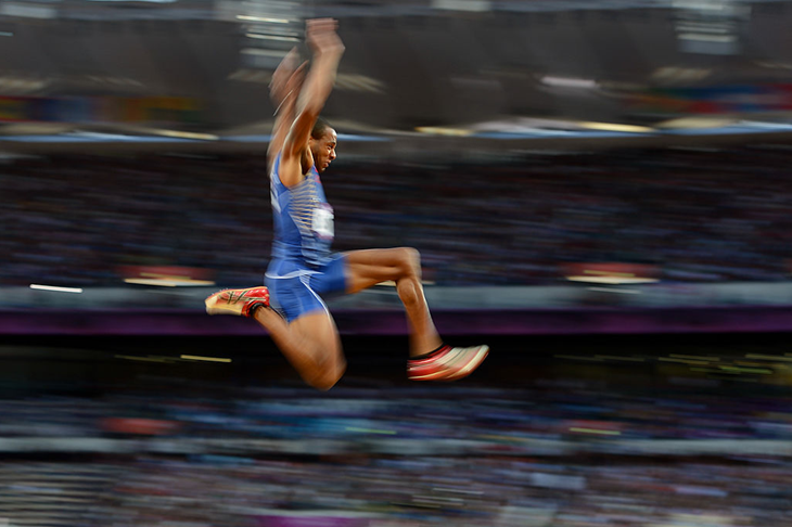 Tyrone Smith competes in the long jump at the London 2012 Olympics (Getty Images)