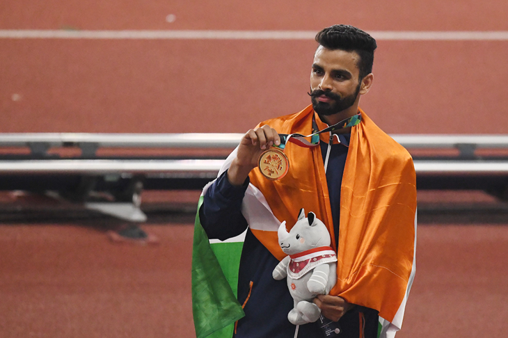 Arpinder Singh at the 2018 Asian Games (AFP / Getty Images)