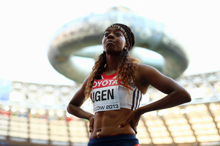 Lorraine Ugen at the 2013 World Championships ()