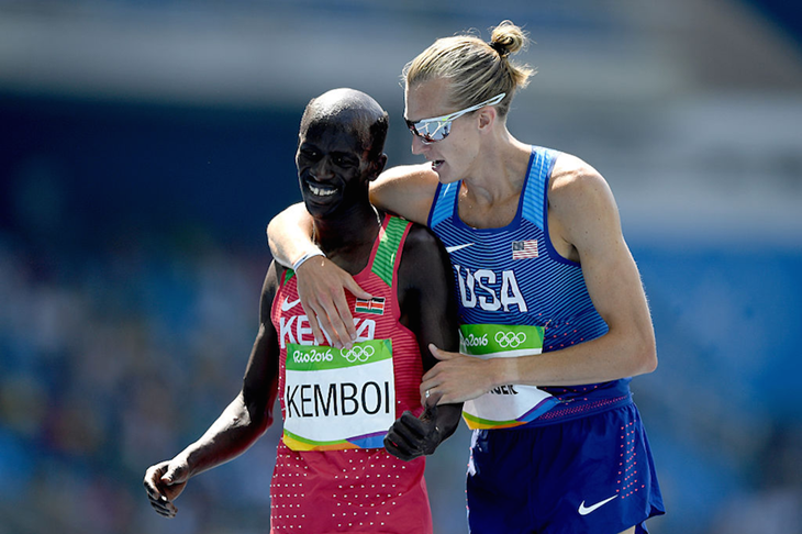 Ezekiel Kemboi and Evan Jager Hair ()
