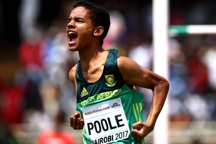 High jump winner Breyton Poole at the IAAF World U18 Championships Nairobi 2017 (Getty Images)
