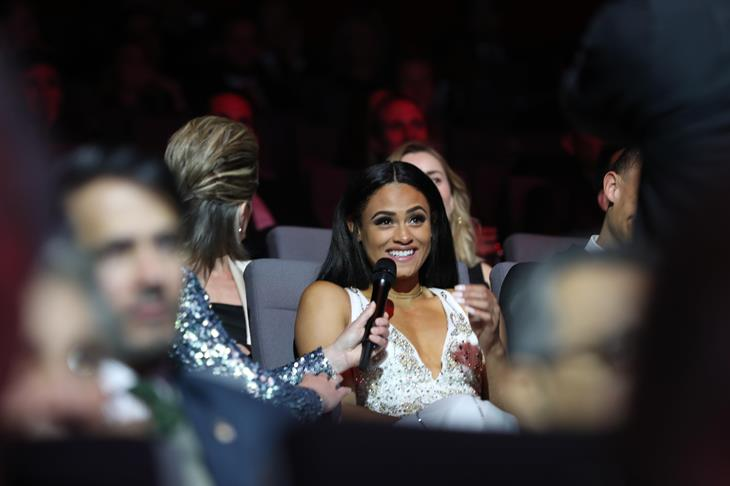 Sydney McLaughlin at the IAAF Athletics Awards (Giancarlo Colombo)
