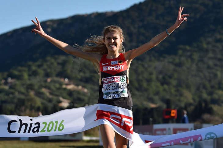 Konstanze Klosterhalfen wins the European U20 Cross Country title (Getty Images)