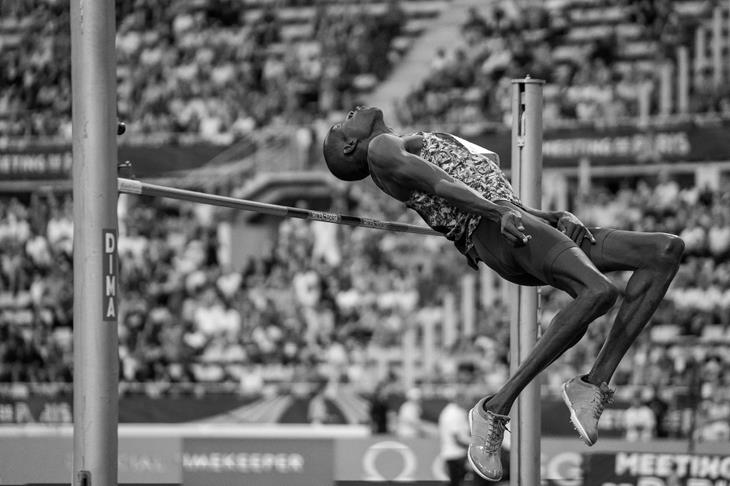 Mathew Sawe competes at the Paris Diamond League (Matthew Quine)