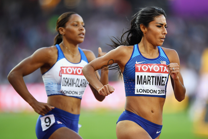 Brenda Martinez competes at the 2017 IAAF World Championships (Getty Images)