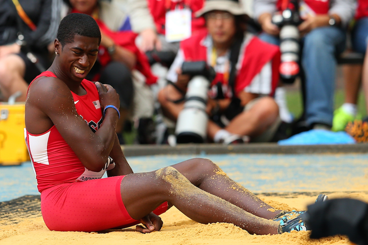 Marquis Dendy at the 2013 IAAF World Championships (Getty Images)
