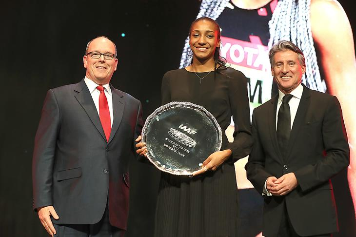 Prince Albert, Nafi Thiam and Sebastian Coe (Giancarlo Colombo)