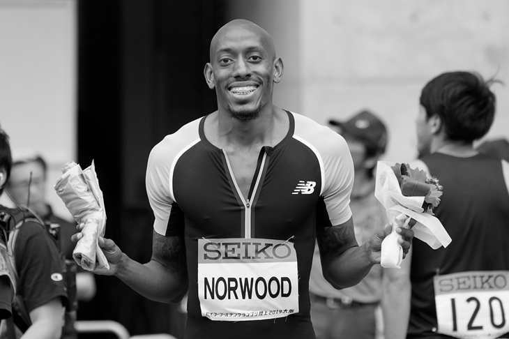 Vernon Norwood at the Seiko Grand Prix (Getty Images)