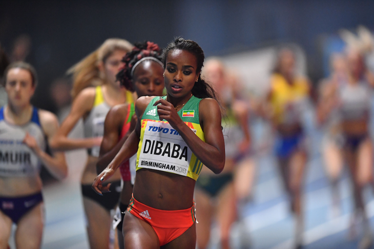 Genzebe Dibaba Birmingham Indoors ()