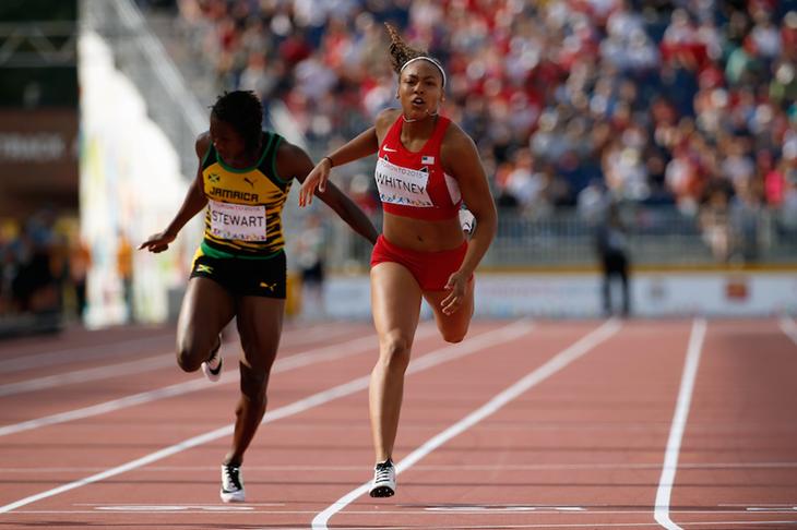 Kaylin Whitney Toronto 200m SPIKES ()