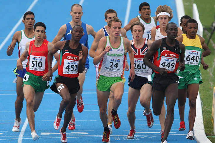 Men's 1500m final at the 2008 World Junior Championships ()