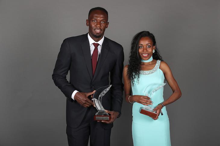 Usain Bolt and Almaz Ayana ()