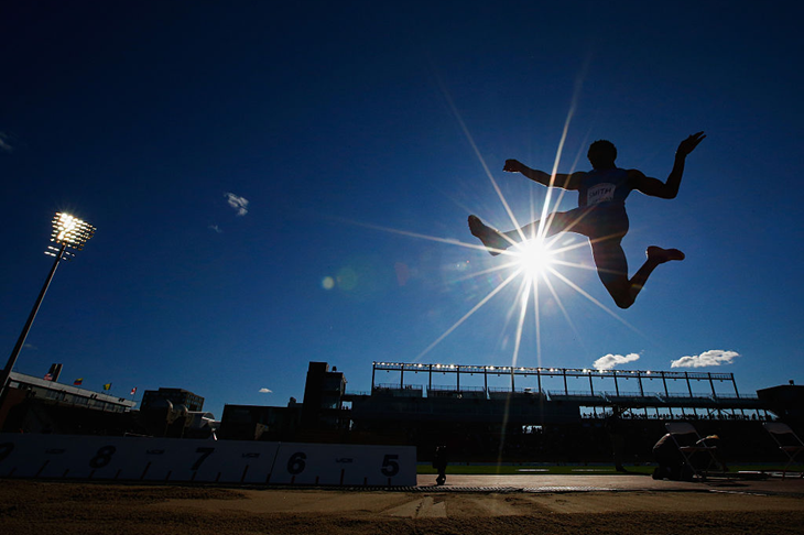 Tyrone Smith competes in the 2015 Pan American Games (Getty Images)