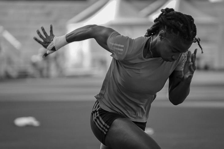 Aleia Hobbs ahead of the Rome Diamond League (Michelle Sammet)