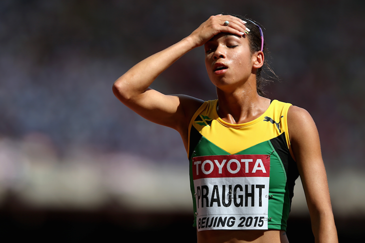 Aisha Praught during the 2015 Beijing World Championships ()