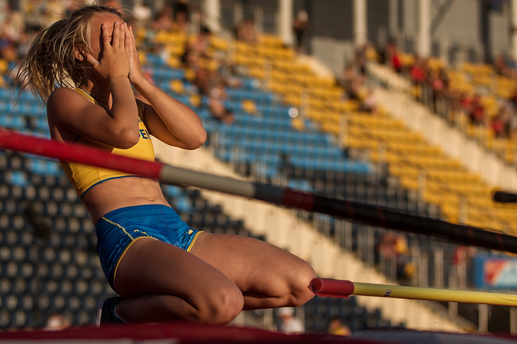 Lisa Gunnarsson competes at the IAAF World U20 Championships in Bydgoszcz  (Getty Images)