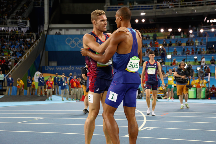 Kevin Mayer and Ashton Eaton ()