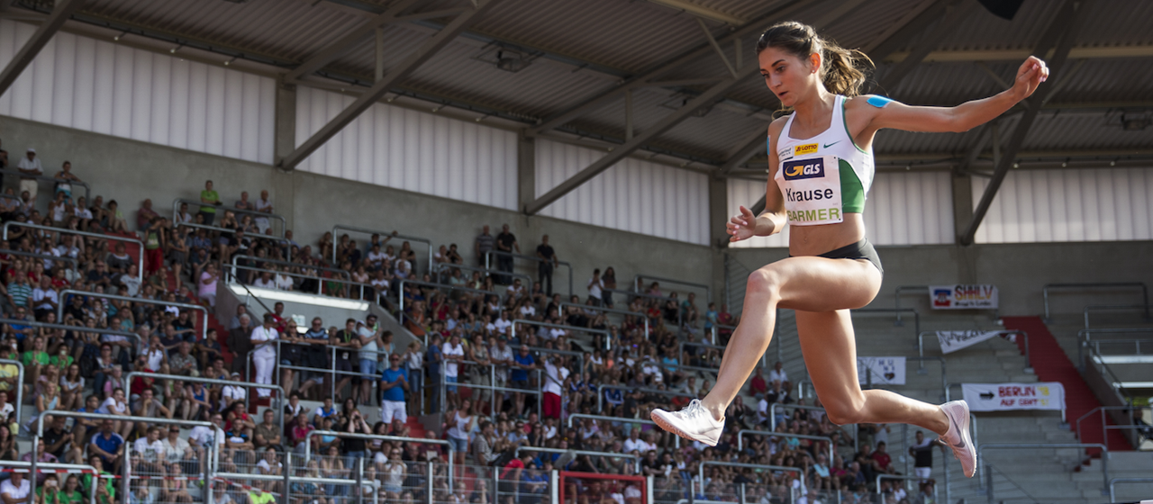 Gesa Krause competes at the German Championships (Getty Images)