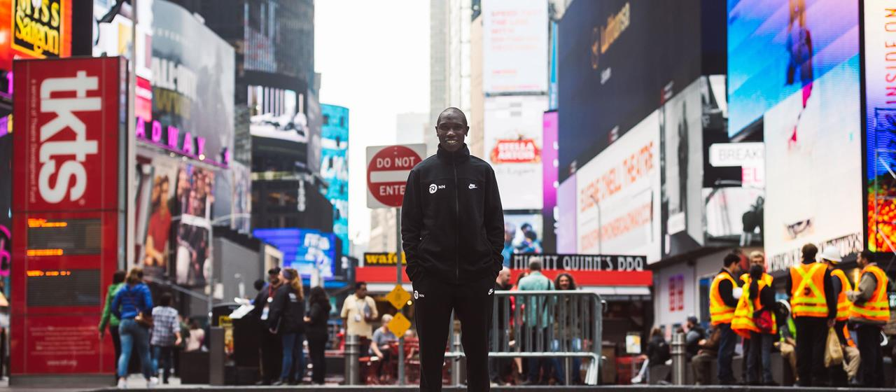 Geoffrey Kamworor ahead of the New York City Marathon (Dan Vernon)