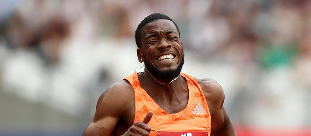 Nethaneel Mitchell-Blake competes at the London Diamond League (Getty Images)