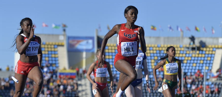Candace Hill competes at the 2016 IAAF World U20 Championships  (Getty Images)