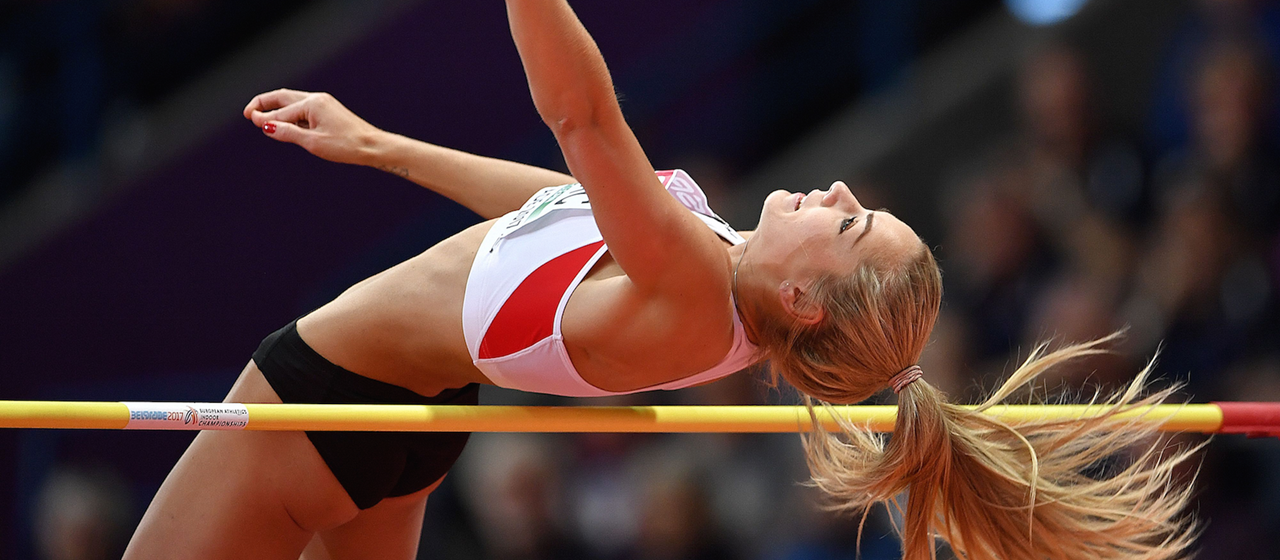 Ivona Dadic competes at the European Indoor Championships (Getty Images / AFP)