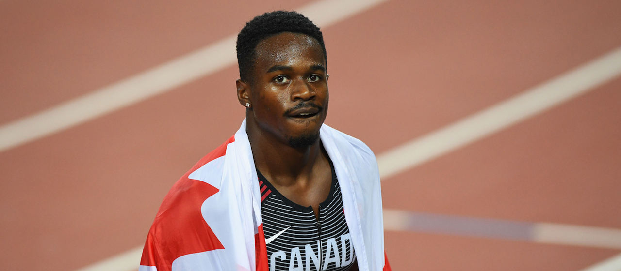 Canada's Aaron Brown after the men's 200m final at the Commonwealth Games (Getty Images)