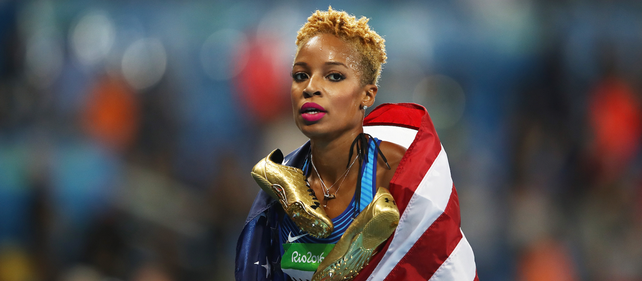 Natasha Hastings at the Rio 2016 Olympics (Getty Images)