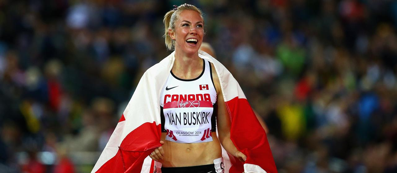 Kate Van Buskirk after winning the bronze medal in the Commonwealth Games 1500m in 2014 (Getty)