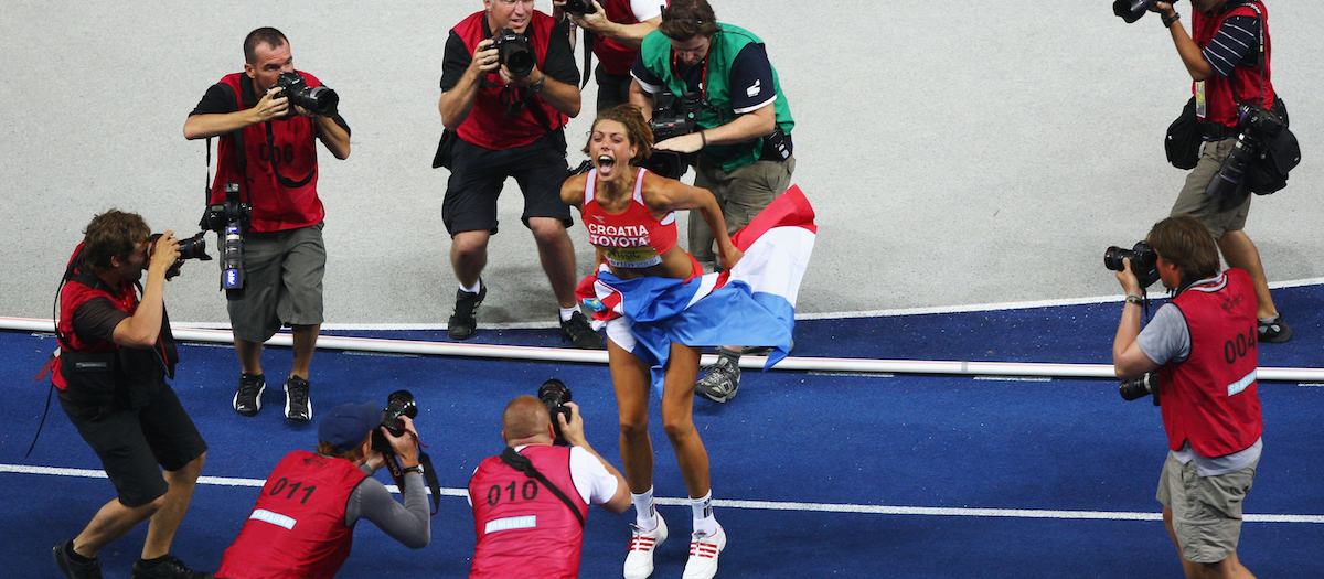 Blanka Vlasic celebrates her gold medal in Berlin 2009 (Getty Images)