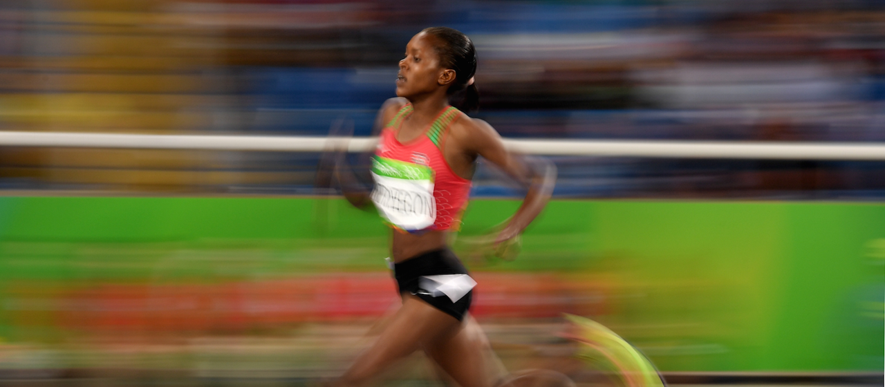 Faith Kipyegon competes in the 1500m at the Rio Olympics (Getty Images)