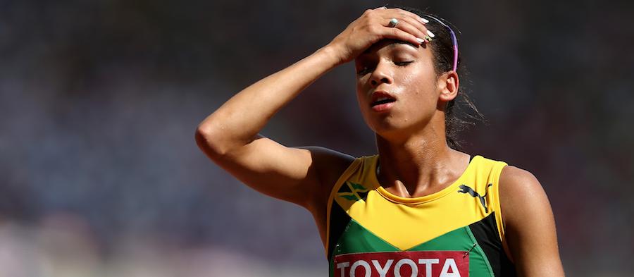 Aisha Praught during the 2015 Beijing World Championships ()