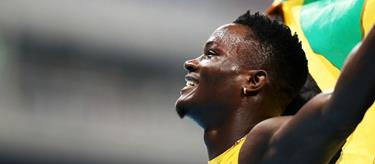 Omar McLeod celebrates at the Rio Olympics (Getty Images)